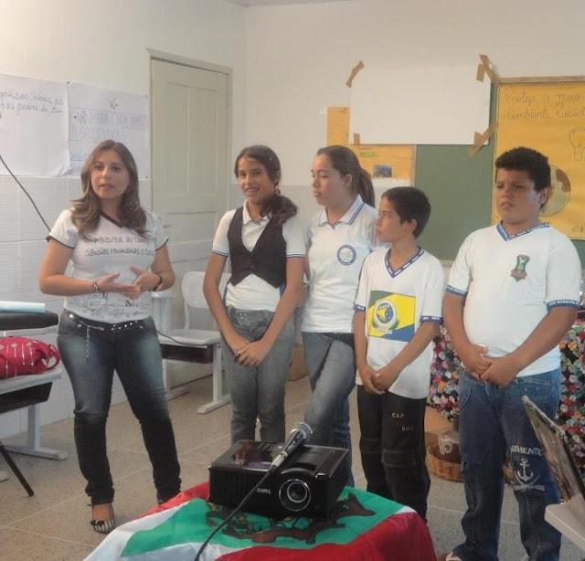 Visita do Coordenador do PIBID/UFCG na escola Ildefonso A, da Silva na cidade de Amparo