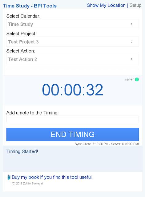 Time Study - BPI Tools App