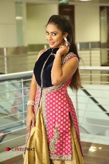 Telugu Actress Sri Reddy Mallidi Stills in White Beautiful Dress at Marriage Needs Bridal Fashion Week 2017 Logo Launch  0167.JPG