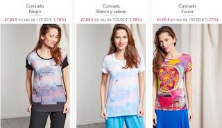 camisetas para mujer de manga corta de Chacok