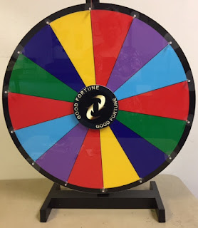 spinning color wheel on tabletop