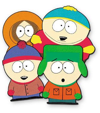 Dibujo de los personajes principales de South Park