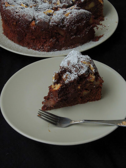 Apple chocolate cake, Butterless Apple Chocolate Cake