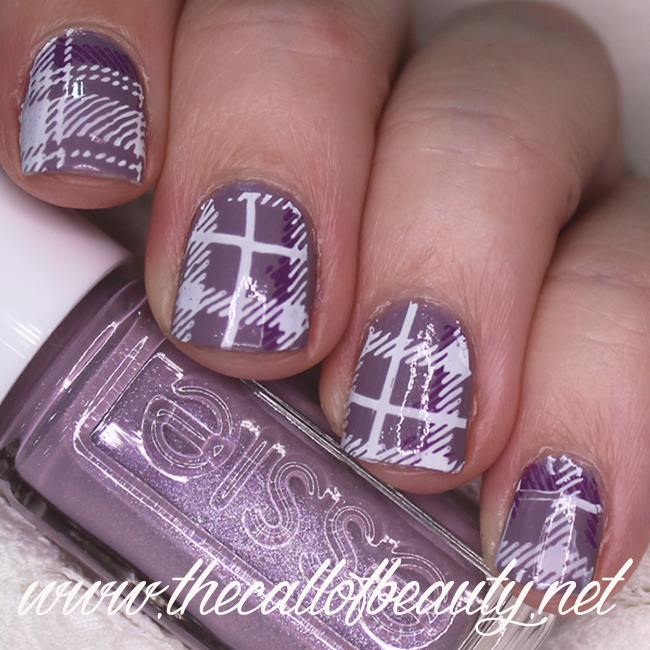 Lavender Plaid Nails