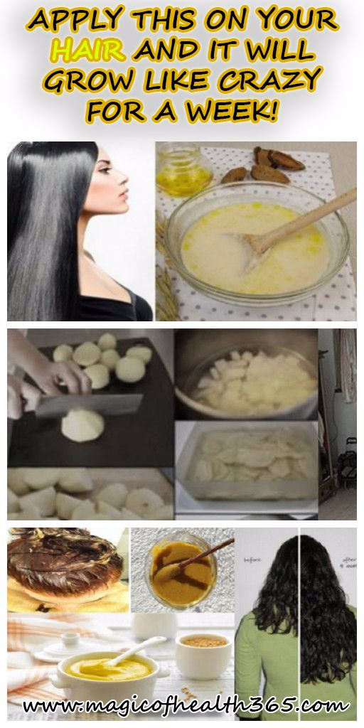 APPLY THIS ON YOUR HAIR AND IT WILL GROW LIKE CRAZY FOR A WEEK!