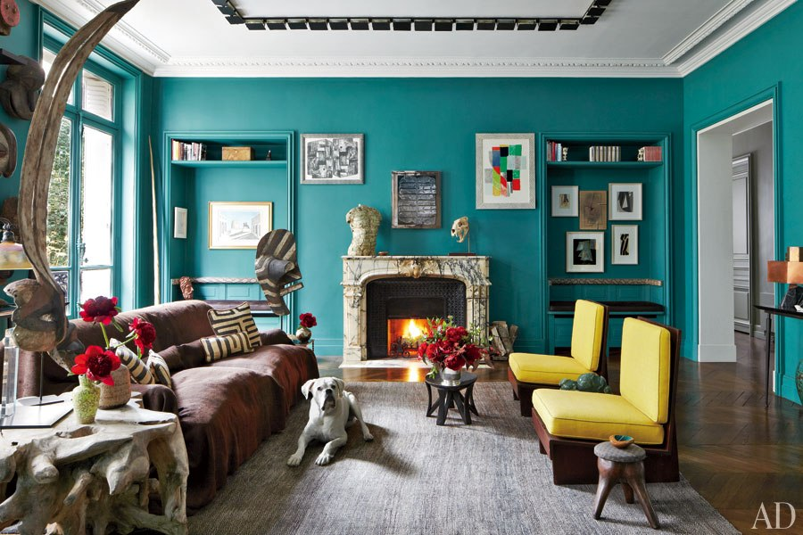 Turquoise and yellow living room ideas with modern living room design