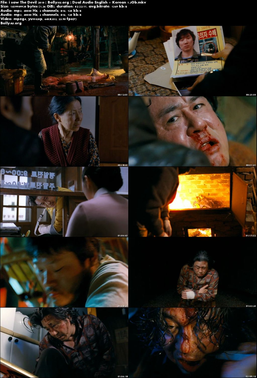 I Saw The Devil 2010 DVDRip 400MB English Korean Dual Audio 480p Download