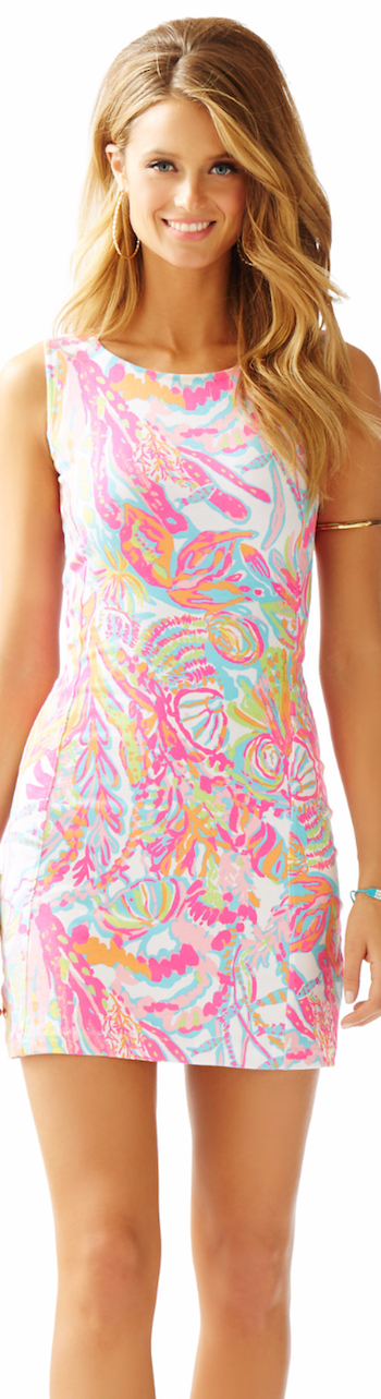 LILLY PULITZER WHITING CUT-OUT SHIFT DRESS RESORT WHITE
