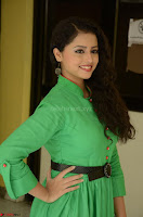 Geethanjali in Green Dress at Mixture Potlam Movie Pressmeet March 2017 044.JPG