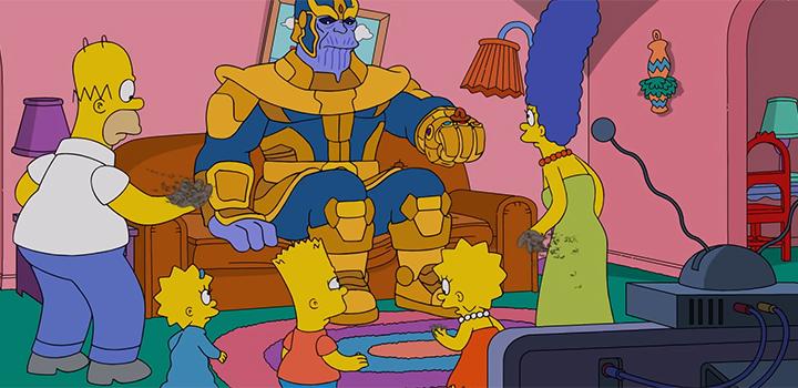 Os Simpsons e Thanos