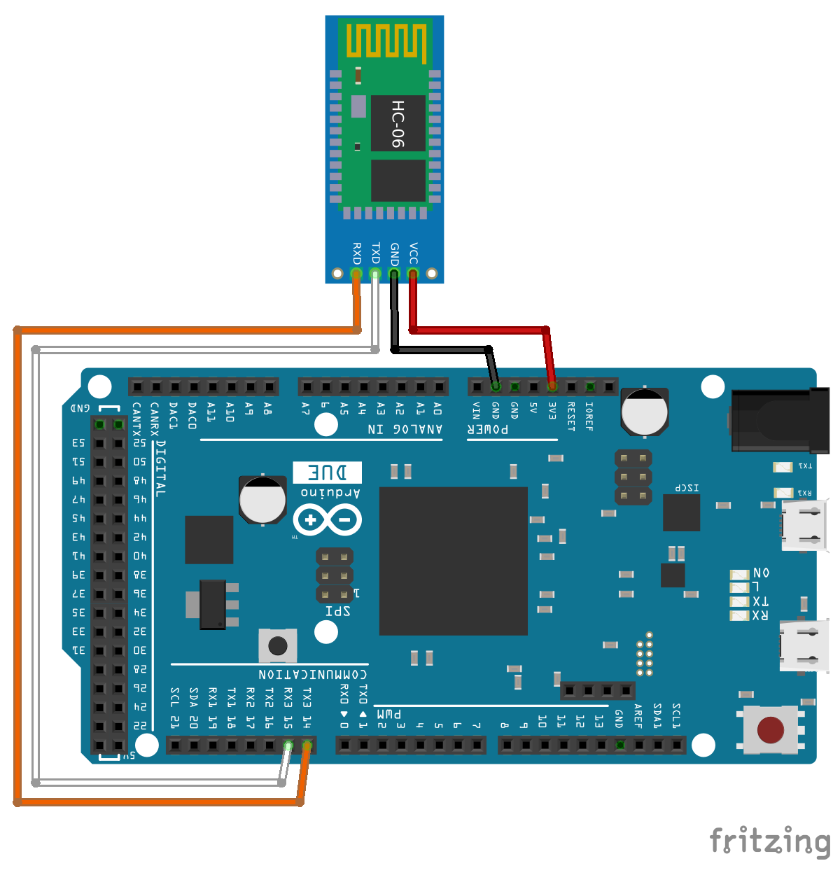 arduino due bluetooth