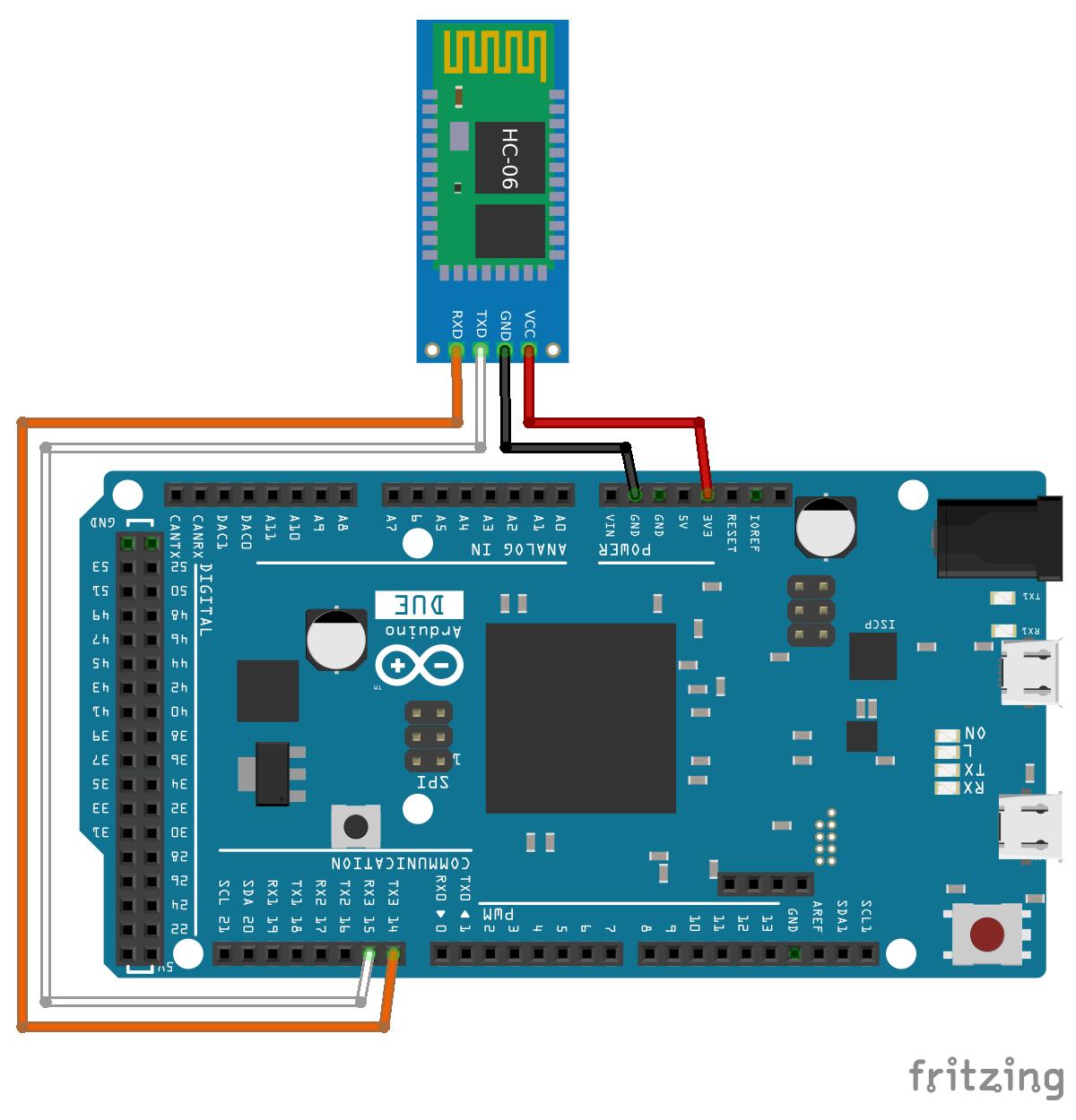 Arduino-er: Connect Arduino Due with HC-06 (Bluetooth Module)