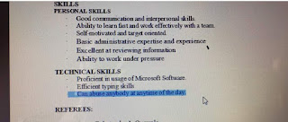 "A job applicant added ""Can abuse anybody at any time of the day"" as Technical skill in his CV and sent to a recruite..lol"