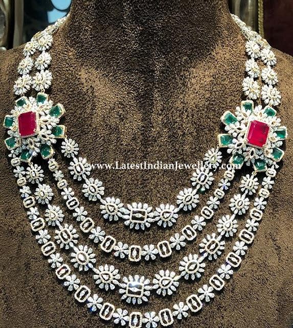 Step Design Bridal Diamond Haram