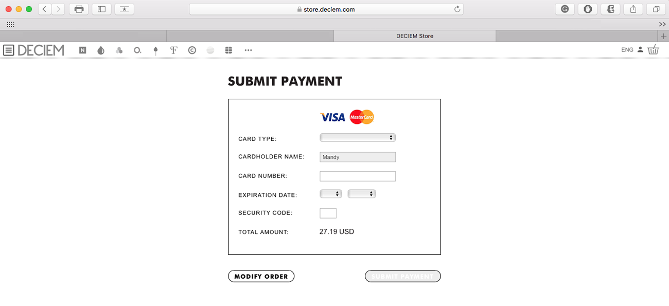 lavlilacs April 2017 haul - Deciem Payment page