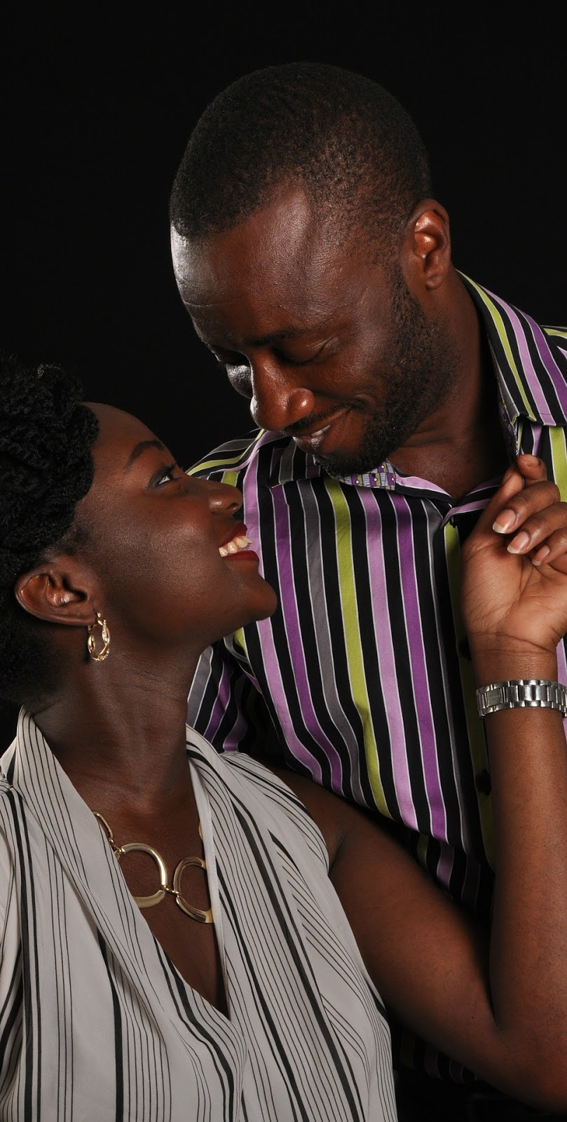 African couple.