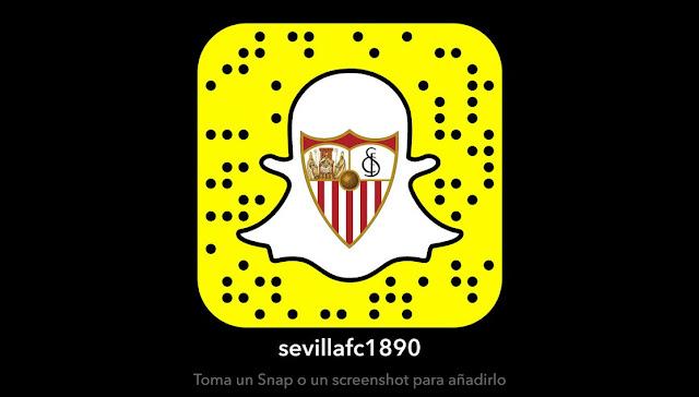 El Sevilla se abre cuenta en Snapchat