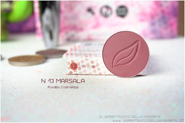 n 13 Marsala  REVIEW  ombretto eyeshadow Purobio Cosmetics