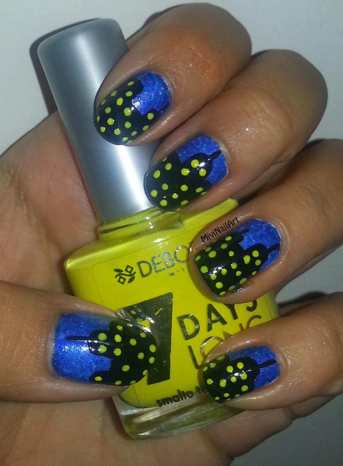 Lujo Uñas De Acrílico Azul Brillo Composición - Ideas de Pintar de ...