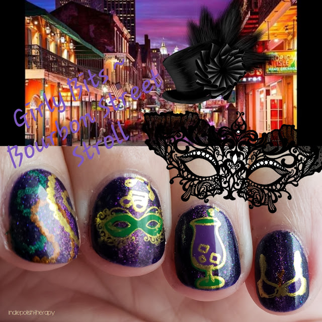 girly bits, polish con, polish con new orleans, indie polish, bourbon street stroll, nails, nail polish, nail art