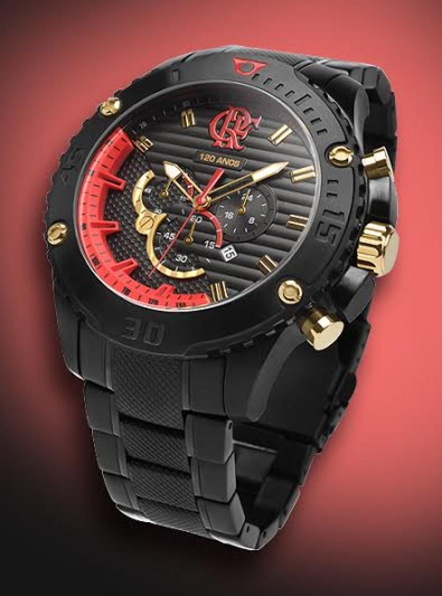 Deus é Flamengo!!!  Technos lança relógio comemorativo dos 120 anos ee431b17c2