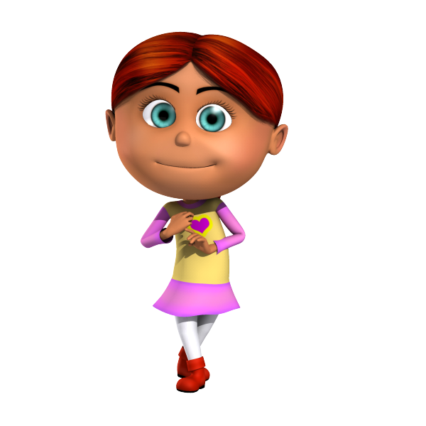 Isabella Readhead Kid 3D Cartoon Character being cute