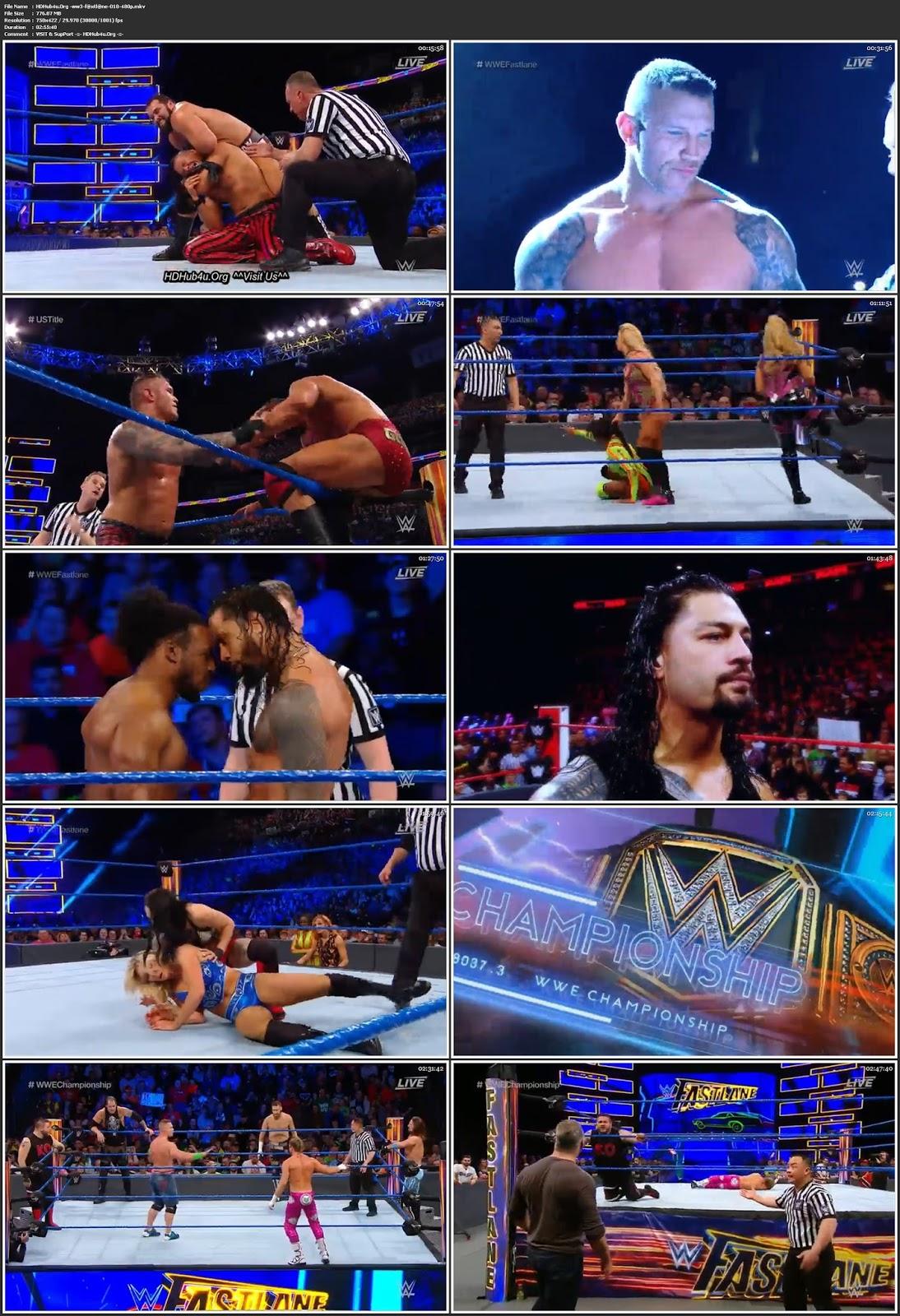 WWE Fastlane 2018 PPV 480p WEBRip 750Mb Download