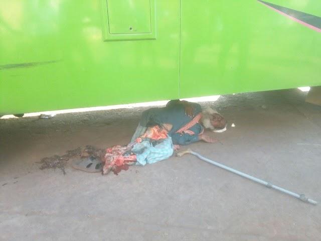 जशपुर बस स्टैंड में रशीद बस ने एक बुजुर्ग को कुचला