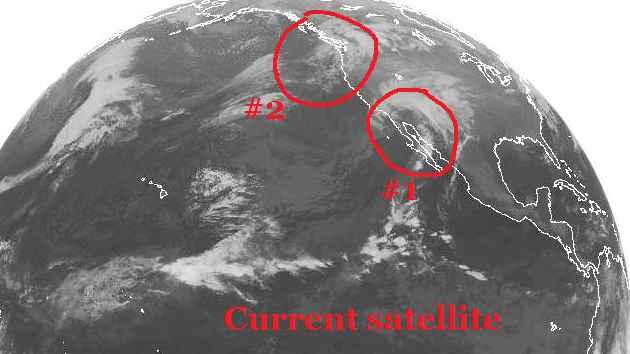 we have two storms coming through the area between now and christmas afternoon if you look at the satellite picture from the pacific you can see one - Ross Christmas Hours