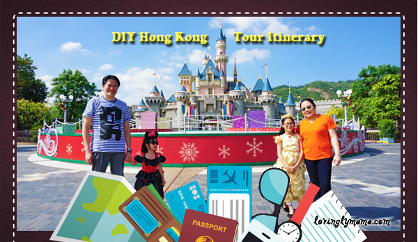 DIY Hong Kong Tour Itinerary - Hong Kong family tour - visit Hong Kong - Sleeping Beauty castle Hong Kong Disneyland