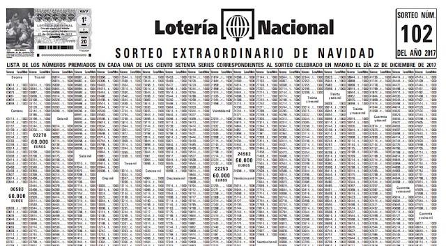 extracto de la lista de premios de la loteria navidad 2017