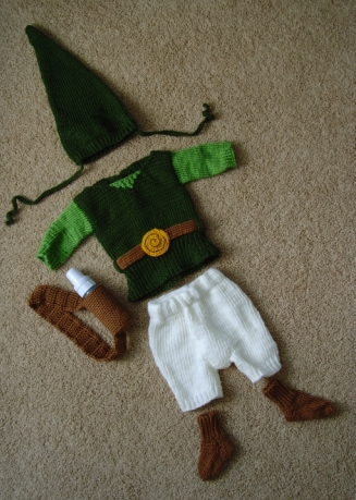 A Gamer\'s Wife: Baby Link Costume from Legend of Zelda
