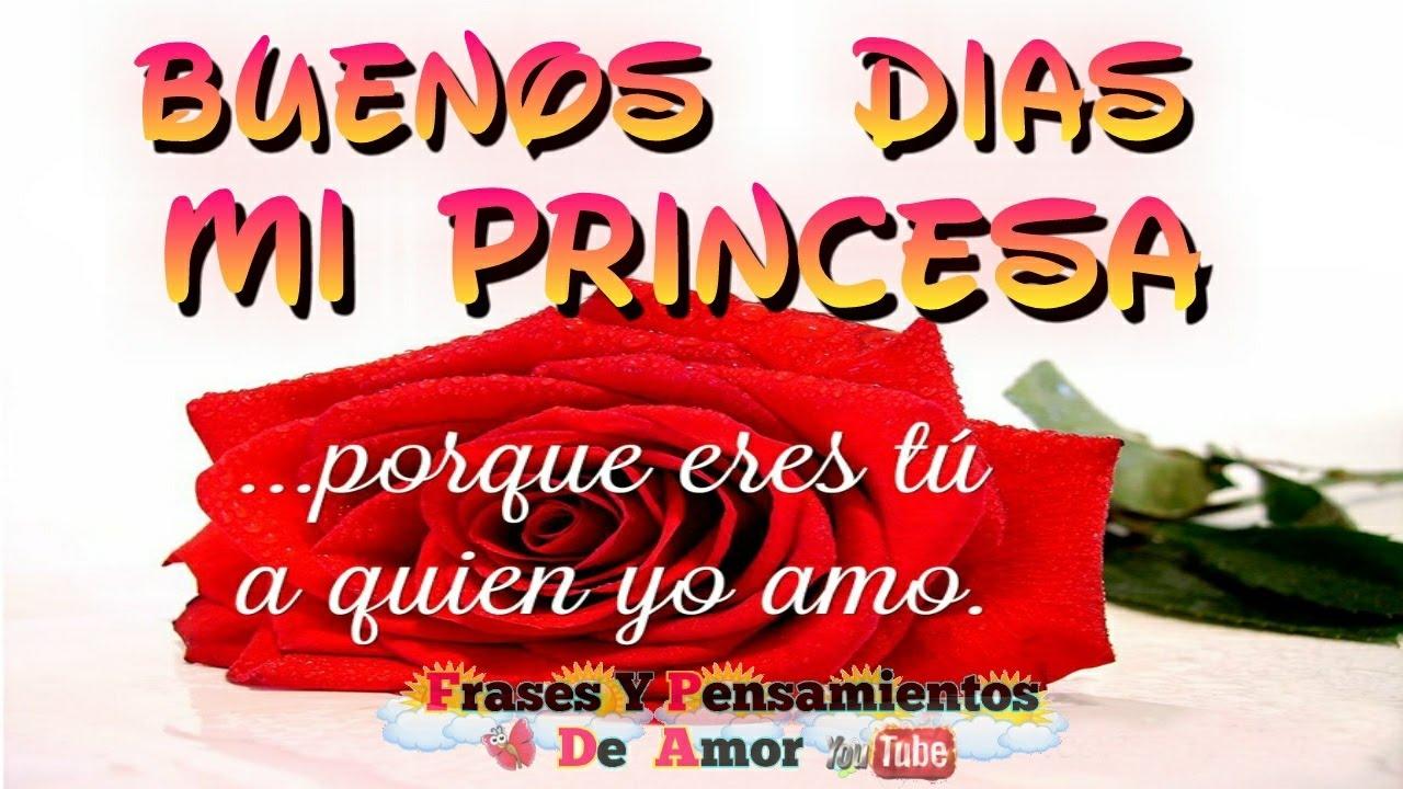 Frases de buenos dias Princesa