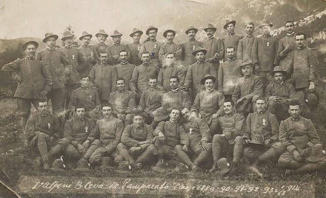 Primo Reggimento Alpini, Battaglione Ceva, Pamparato, Classi 1889 1890 1891 1892 1893 01/08/1914