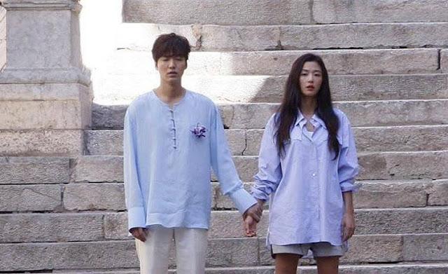 Lee Min Ho & Jun Ji Hyun Shooting in Spain Barcelona for Legend of the Blue Sea A korean Fairy Tale Story