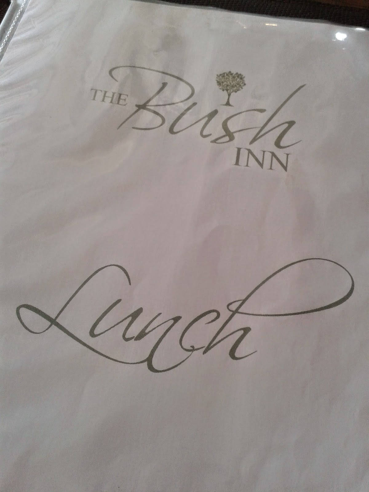 Bush Inn St. Hilary lunch menu