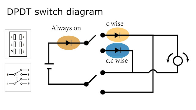 dpdt switch wiring diagram led indicator