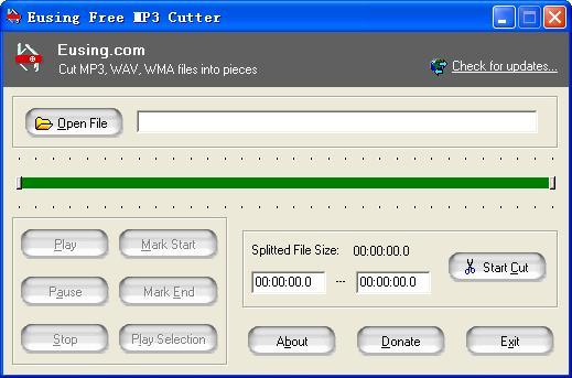 Eusing Free MP3 Cutter 2.5 - Φτιάξτε Ringtones στο πιτς φιτίλι
