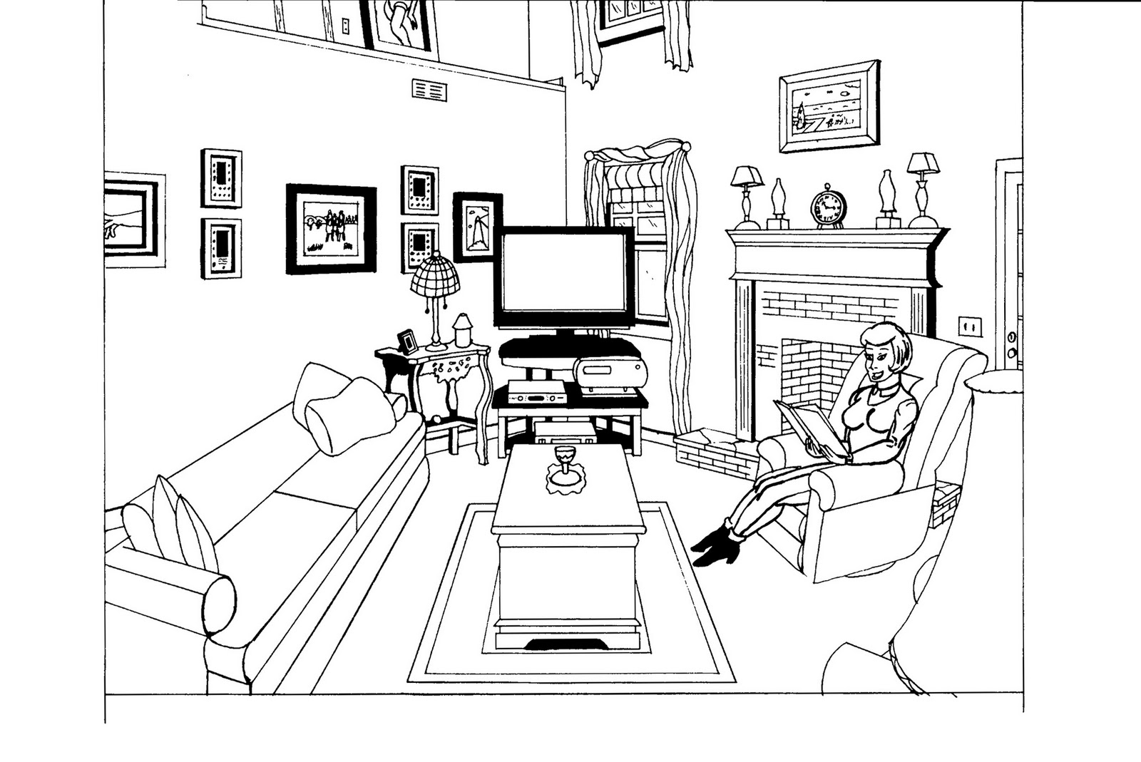 The boiling teapot january 2012 - Two point perspective living room ...
