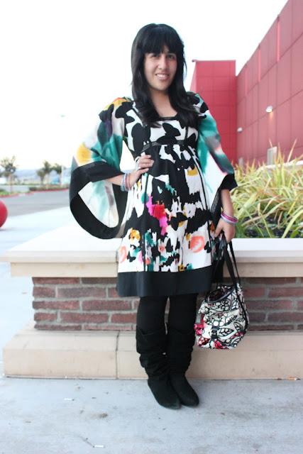 DVF Kimono Sleeve Dress