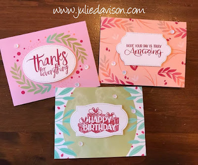 Stampin' Up! Quick Cards: Calligraphy Essentials Kit ~ www.juliedavison.com