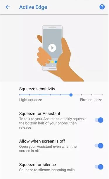 Pixel 2, Pixel 2 XL  4 new features-Squeeze the edges