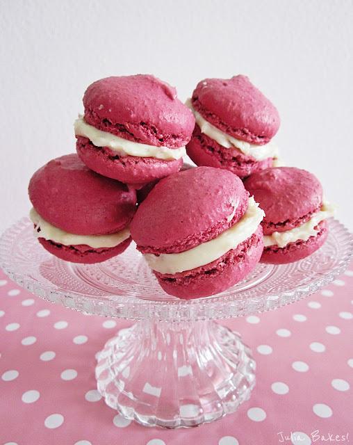 rosafarbene Macarons