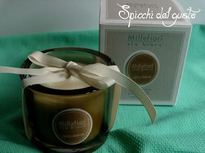 candela elegante e profumata millefiori