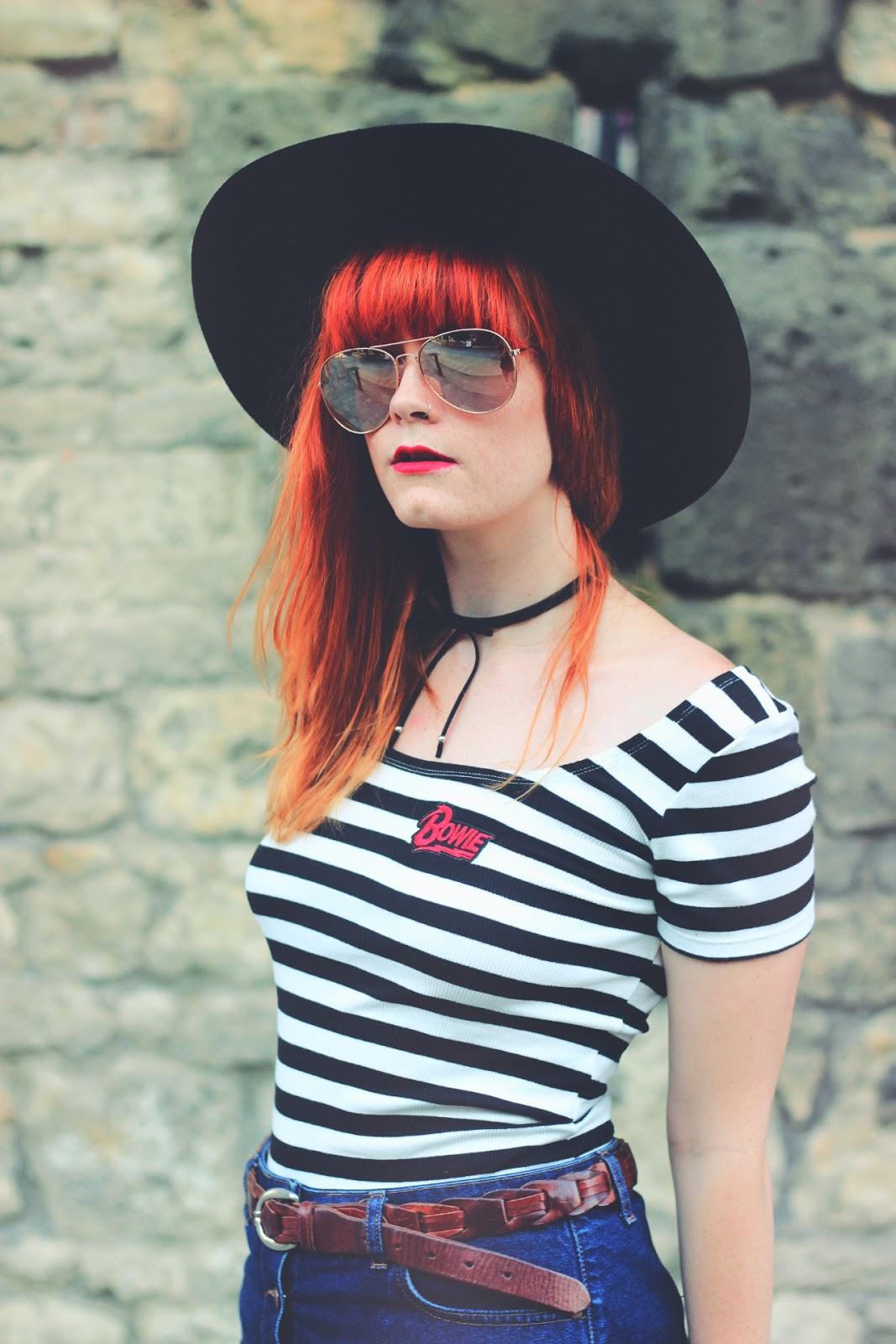 Striped Zara Bowie T-Shirt Fashion Blogger
