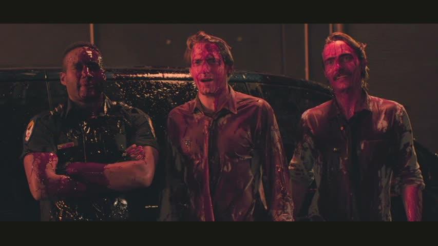 Frank (Marshall Givens), Evan (Fran Kranz) and Tim (Joey Kern) in Bloodsucking Bastards