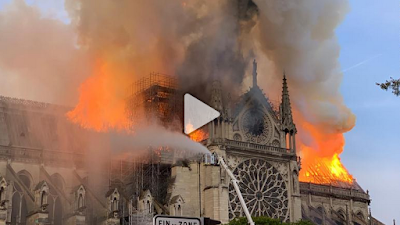Witness the cause of the fire in Paris. Notre Dame Cathedral