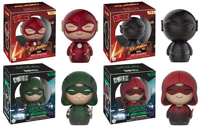 The Flash & Arrow TV Series Dorbz Vinyl Figures by Funko - The Flash, Zoom, Green Arrow & Speedy