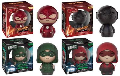 The Flash & Arrow TV Series Dorbz Vinyl Figures by Funko - The Flash, Zoom, Green Arrow & Speedy