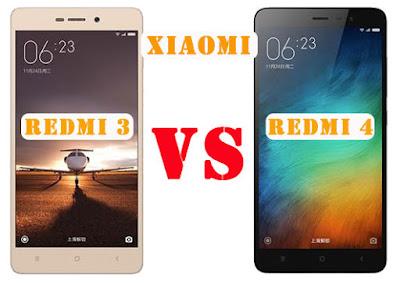 Perbedaan Xiaomi Redmi 4 VS Redmi 3